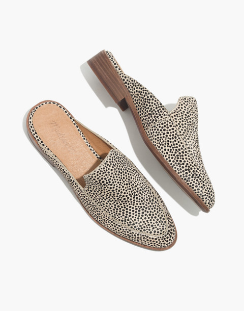 The Frances Loafer Mule in Spotted Calf Hair in dried flax multi image 1