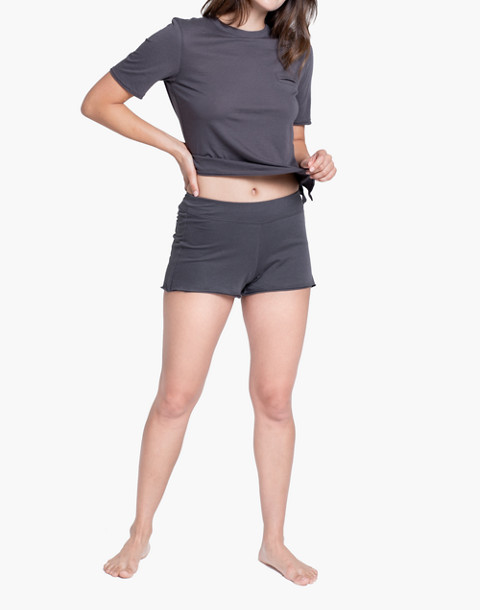 Lunya® Pima Sleep Shorts in gray image 1
