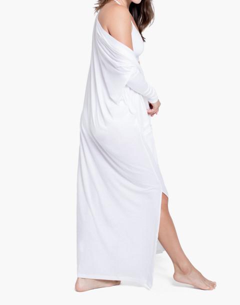 Lunya® Pima Long Cardigan Robe in white image 2