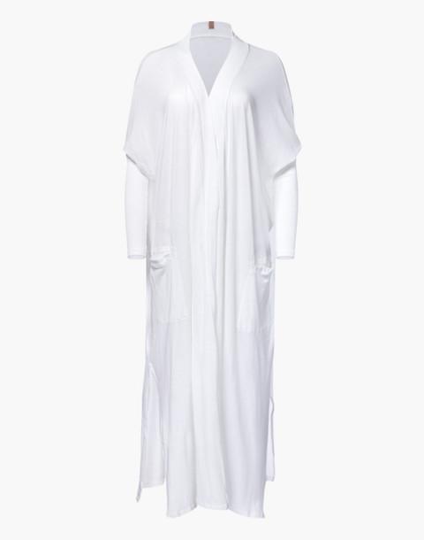 Lunya® Pima Long Cardigan Robe in white image 3