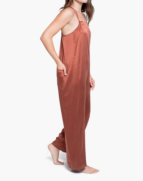 Lunya® Washable Silk Sleep Jumpsuit in copper image 2