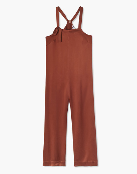 Lunya® Washable Silk Sleep Jumpsuit in copper image 3