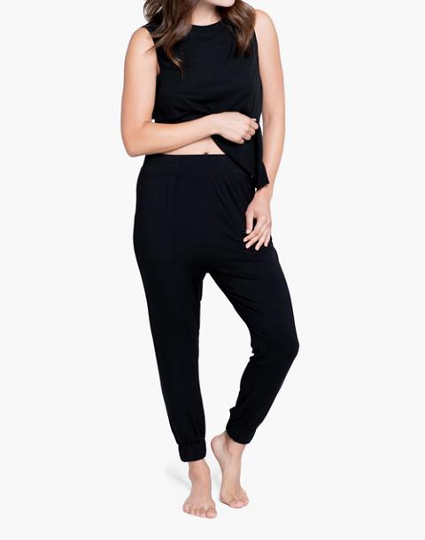 Lunya® Siro Draped Jogger Pants in black image 1