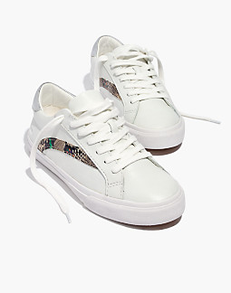 Women's Sidewalk Low-Top Sneakers in Metallic and Stamped Leather