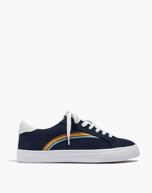 a4344eca56a36d Women s Sidewalk Low-Top Sneakers in Rainbow Embroidered Canvas in deep  navy image 3