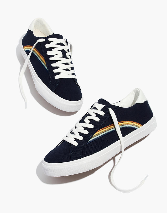 a684f45e99 Women s Sidewalk Low-Top Sneakers in Rainbow Embroidered Canvas