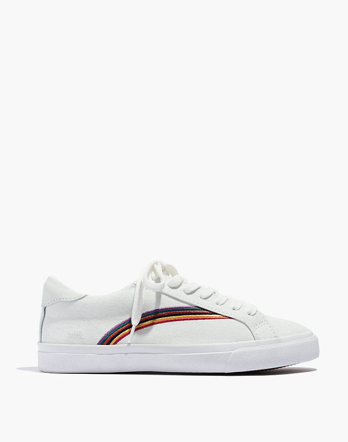 2416ab45988 Women s Sidewalk Low-Top Sneakers in Rainbow Embroidered Canvas