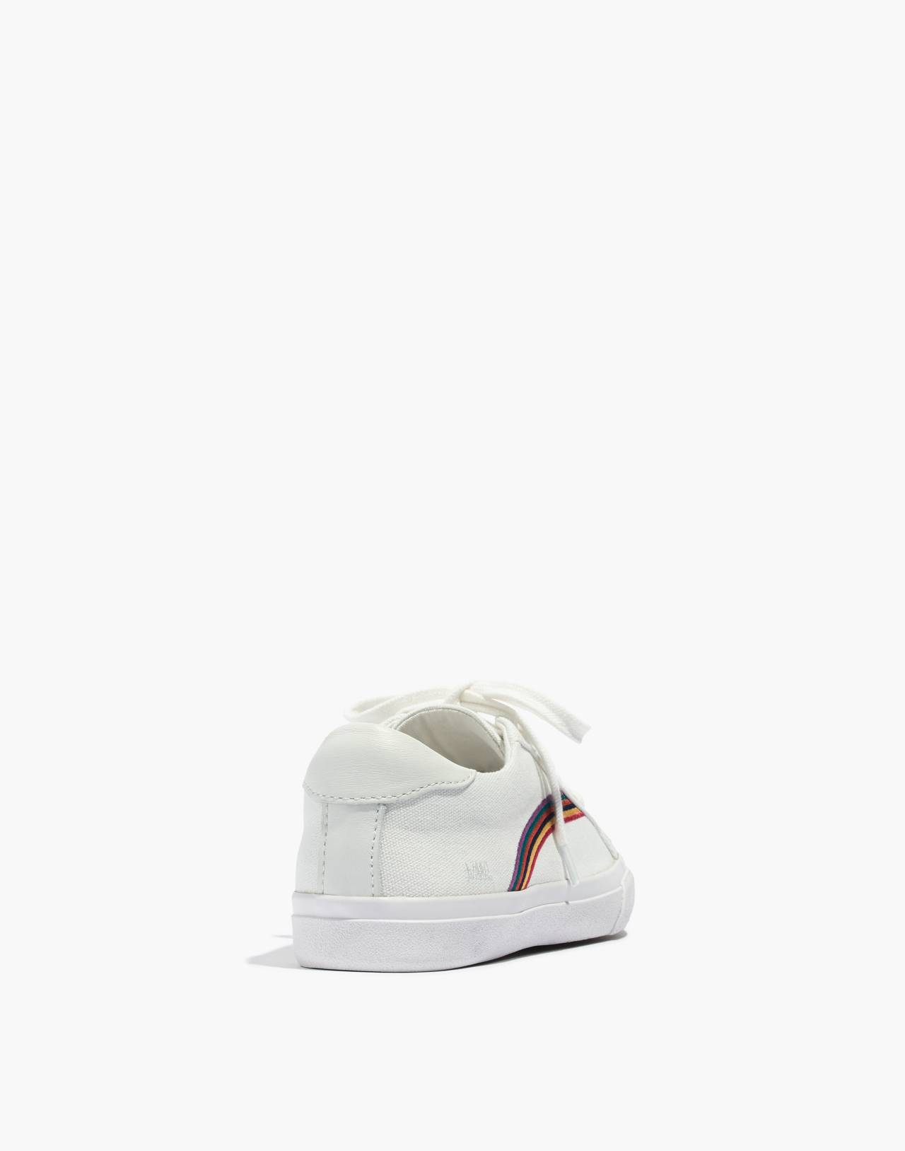 Women's Sidewalk Low-Top Sneakers in Rainbow Embroidered Canvas in off white/off white image 3