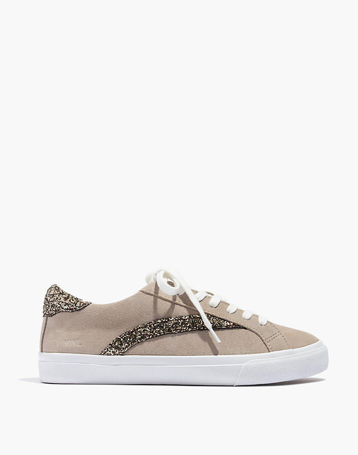 51981f280648 Women s Sidewalk Low-Top Sneakers in Glitter-Accented Suede