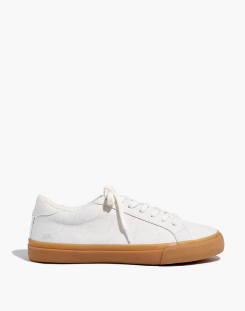Women's Sidewalk Low-Top Sneakers in Monochrome Canvas in pale parchment image 3