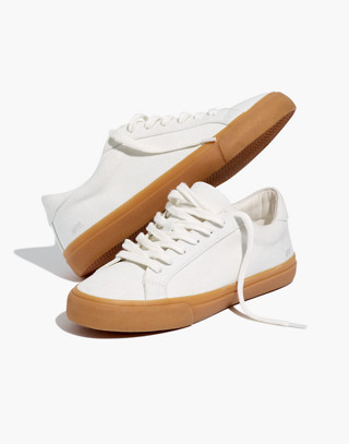 Women's Sidewalk Low-Top Sneakers in Monochrome Canvas in pale parchment image 1