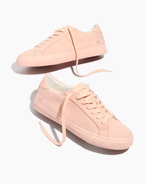 Women's Sidewalk Low-Top Sneakers in Monochrome Canvas in peach image 1