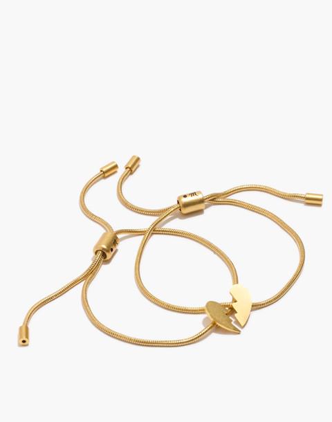 Madewell x Girls Inc. Friendship Bracelet Set in broken heart set image 1