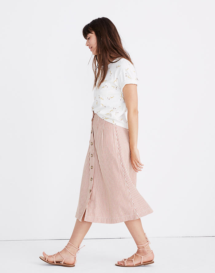 92610de79 Top Rated. Patio Button-Front Midi Skirt ...