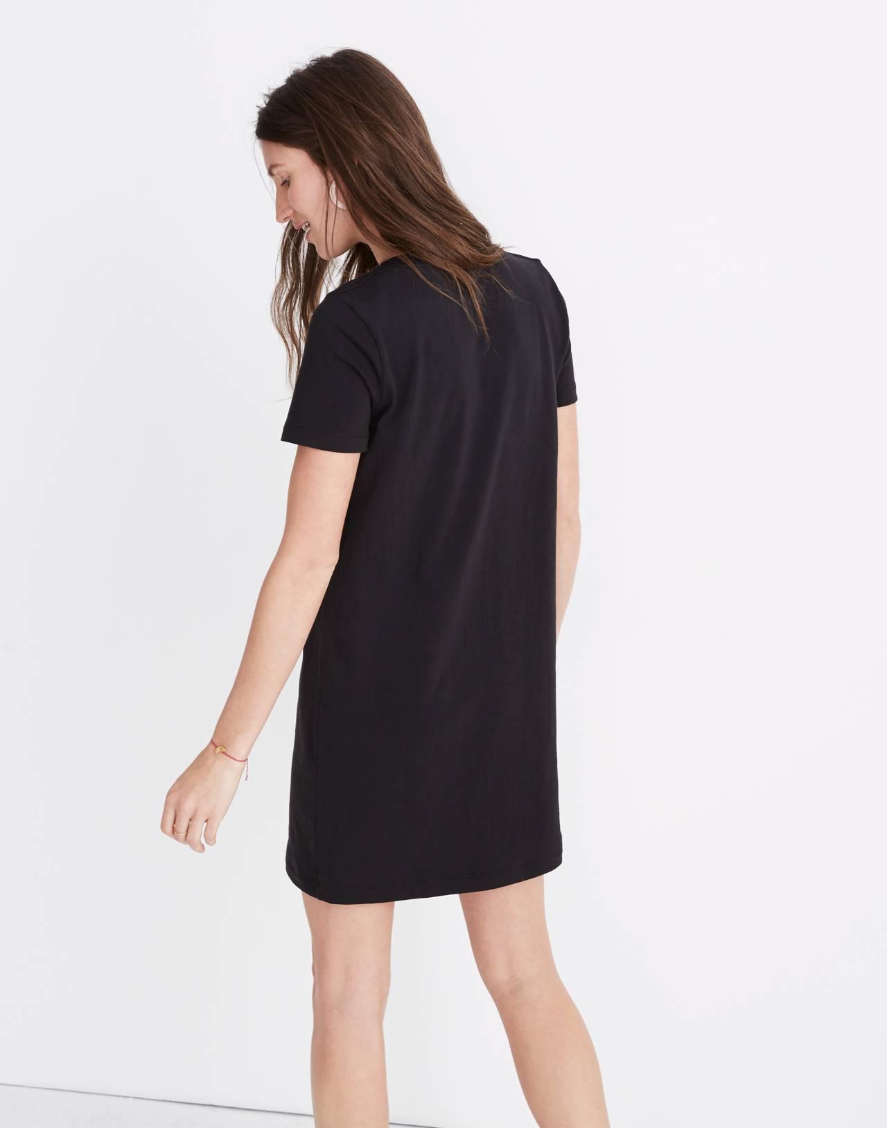 Tee Dress in true black image 2