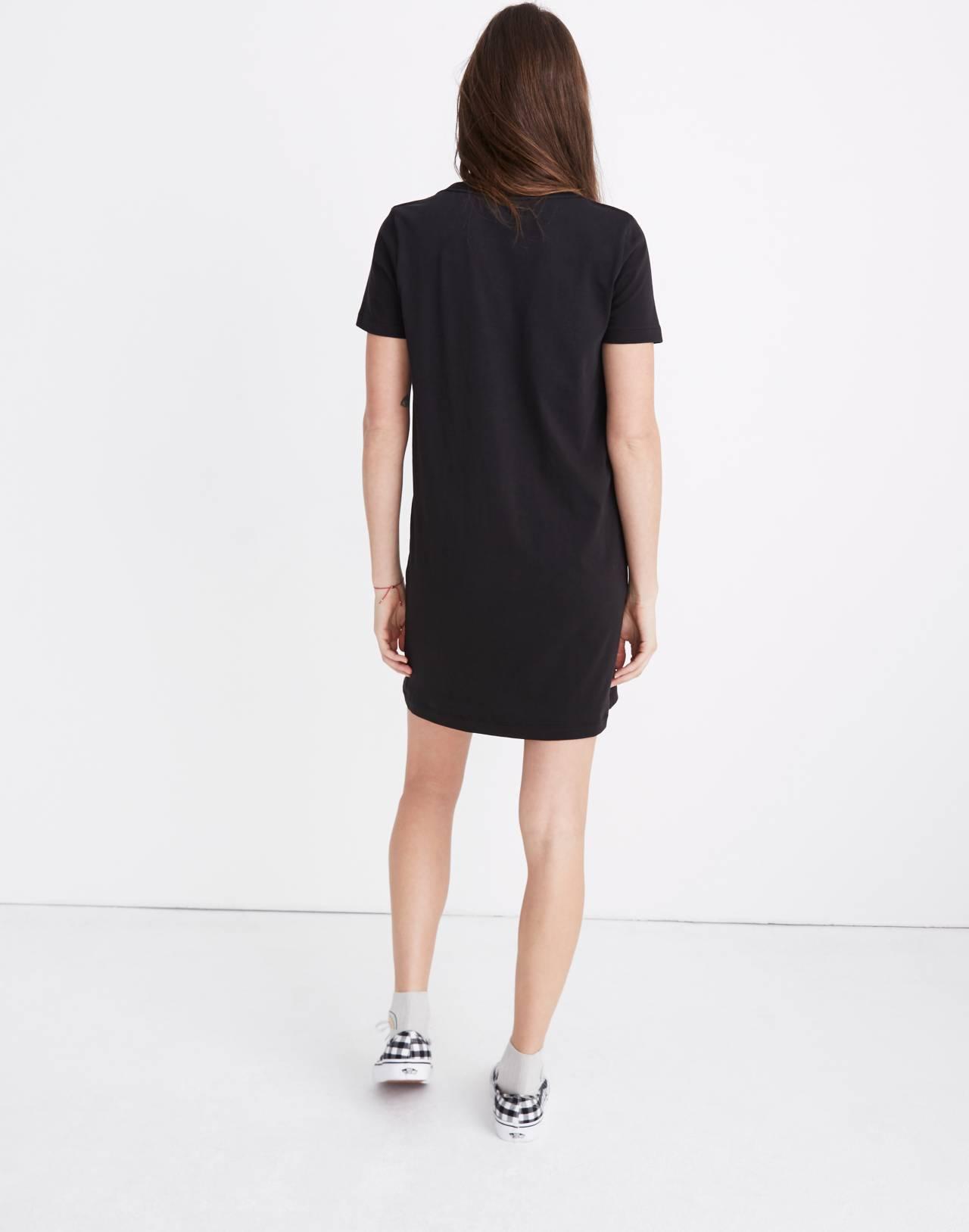 Tee Dress in true black image 3