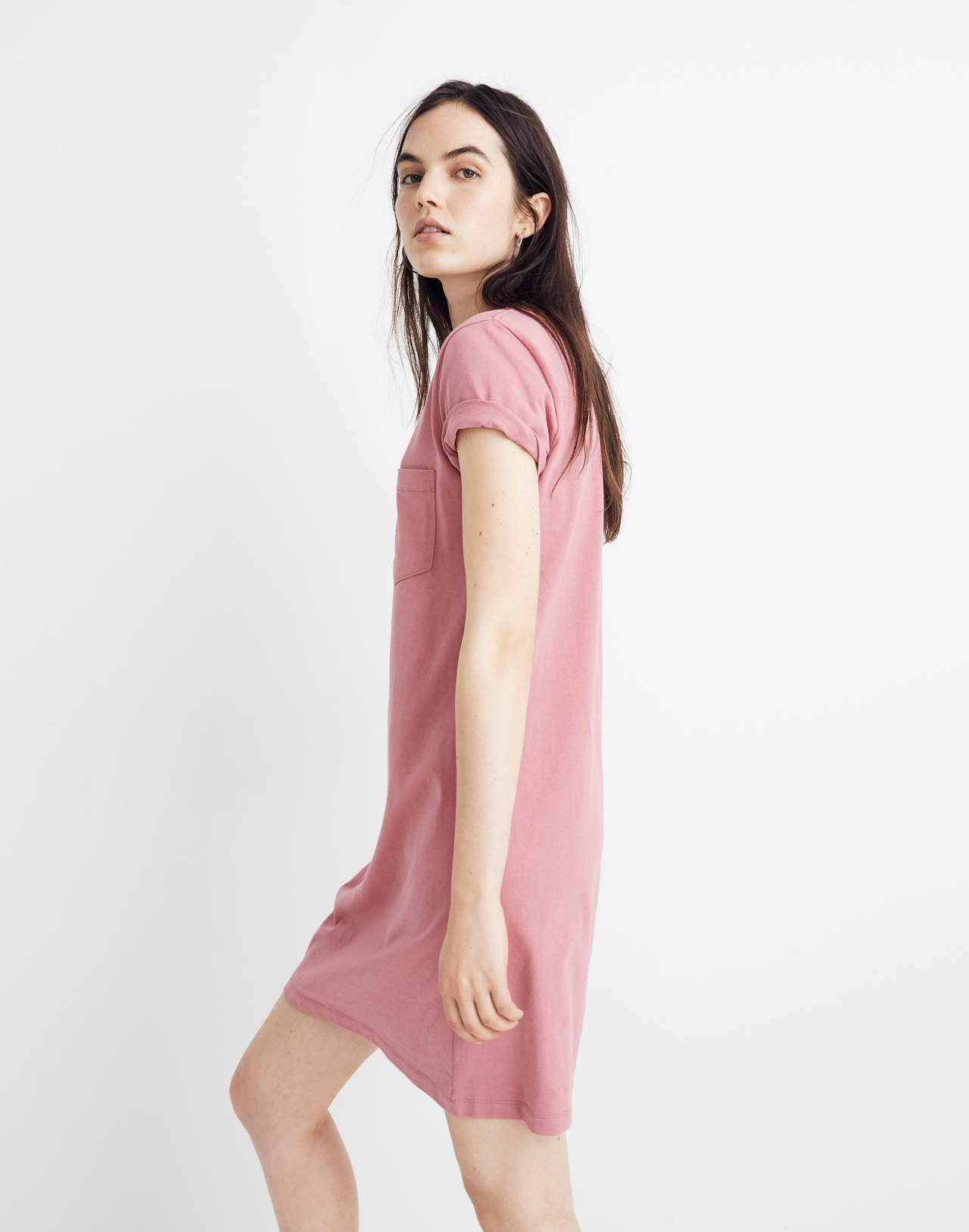 Tee Dress in autumn berry image 2