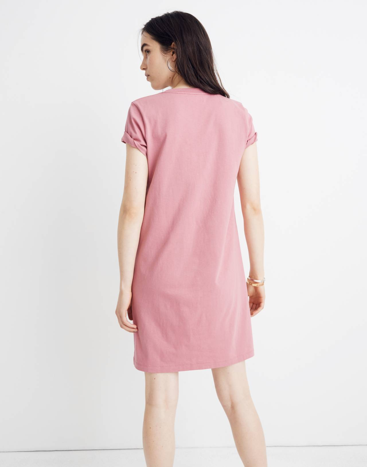 Tee Dress in autumn berry image 3