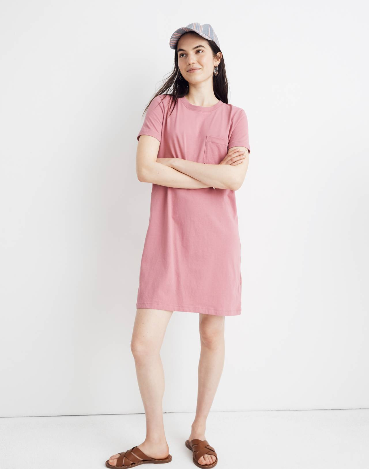 Tee Dress in autumn berry image 1