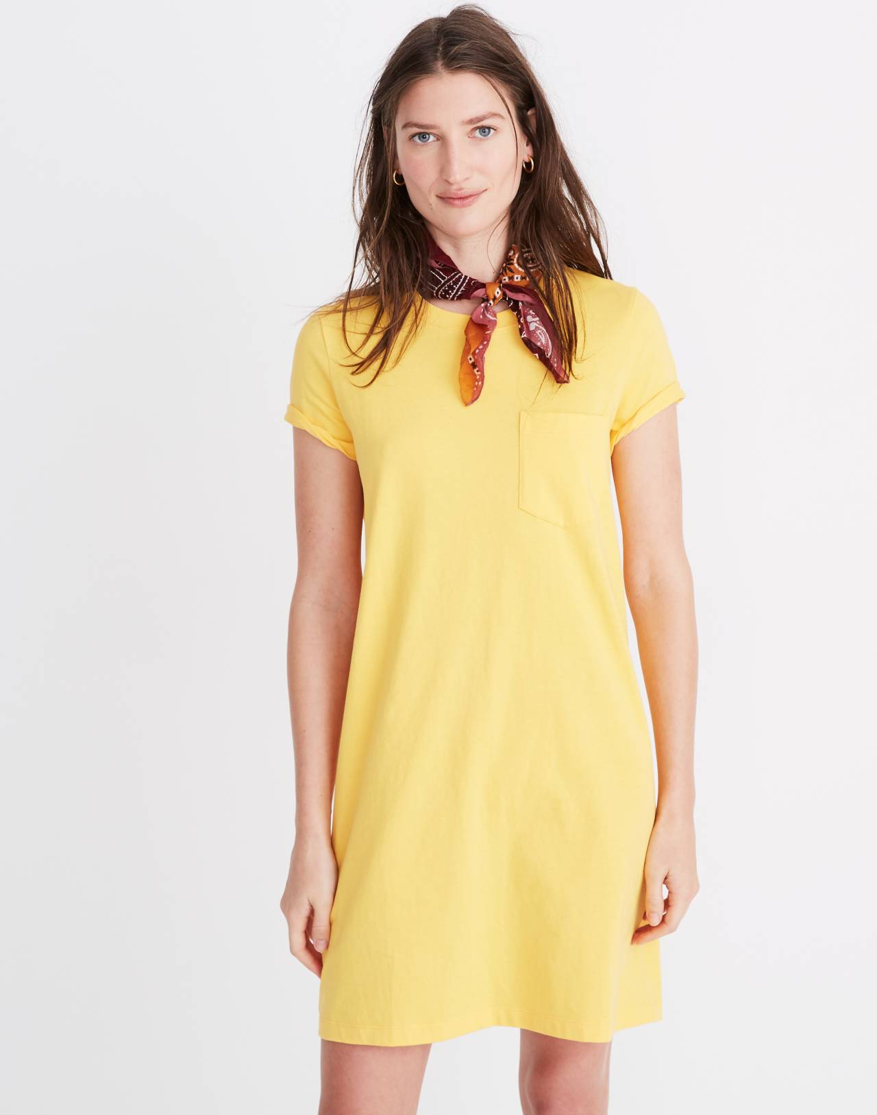Tee Dress in golden lantern image 1