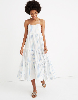 Cami Tier Midi Dress In Stripe by Madewell