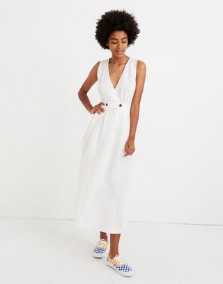 Button Waist Wrap Midi Dress by Madewell