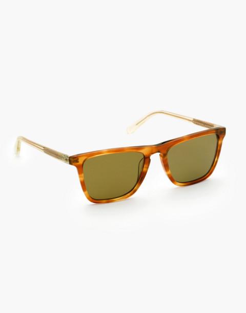 Krewe® Lafitte Sunglasses in tobacco+champagne image 2