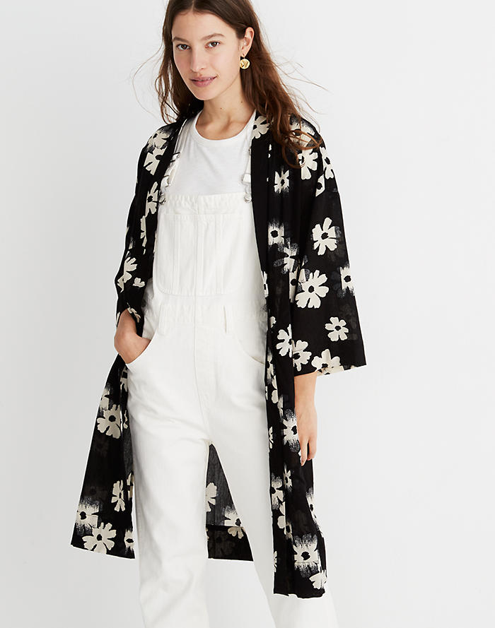 a42e145e750 Robe Jacket in Ikat Floral