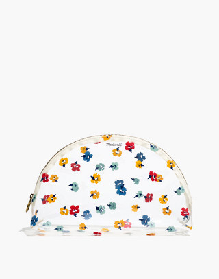 Large Crystalline Half Moon Pouch In Confetti Floral by Madewell