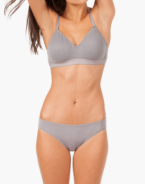 LIVELY™ Retro Ribbed Bralette in gray image 1