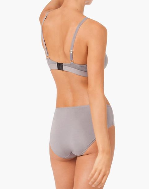 LIVELY™ Retro Ribbed Bralette in gray image 2