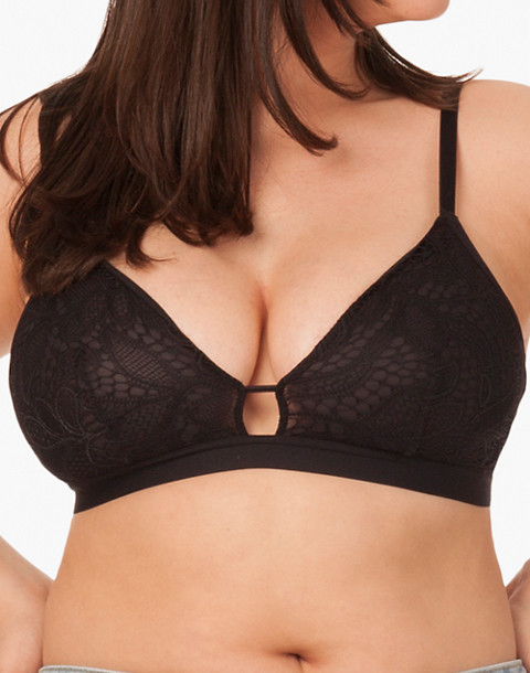 LIVELY™ Palm Lace Busty Bralette in black image 1