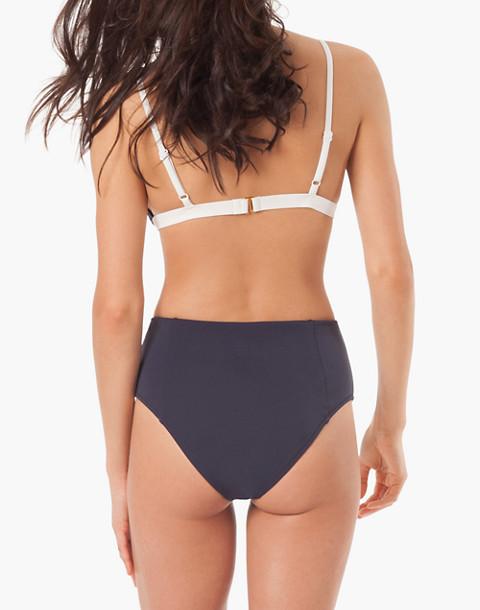 LIVELY™ High-Waist Bikini Bottom in blue image 2