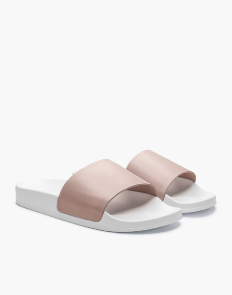 GREATS® Leather Slides in pink image 1