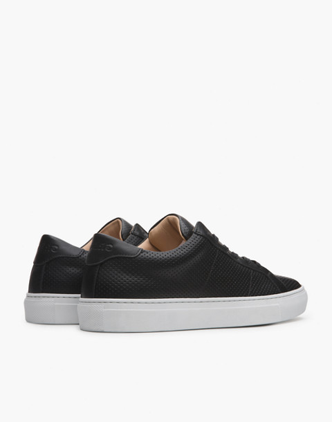 GREATS® Royale Perforated Leather Low-Top Sneakers in black image 2