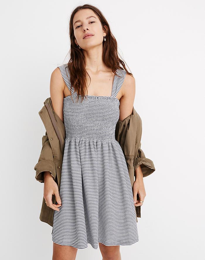 b3d27981de Texture   Thread Smocked Dress in Stripe