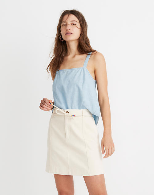 0a778e3cda Capital A-Line Mini Skirt in cloud lining image 1