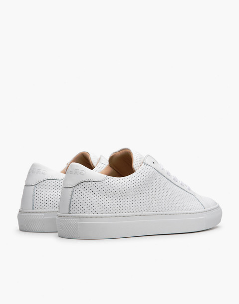 GREATS® Royal Perforated Leather Low-Top Sneakers in white image 2
