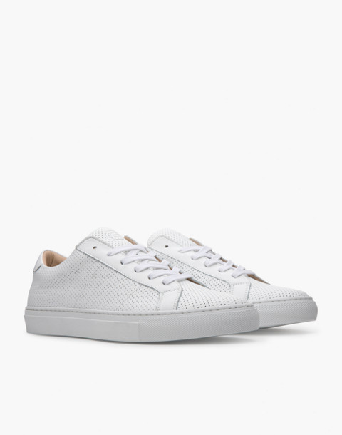 GREATS® Royal Perforated Leather Low-Top Sneakers in white image 1