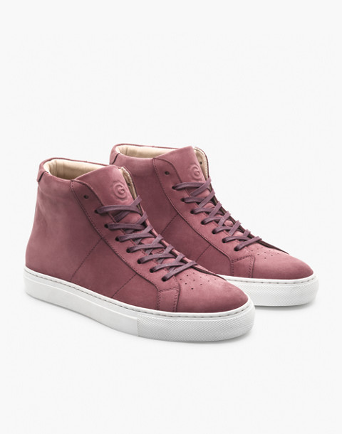 GREATS® Royale Leather High-Top Sneakers in purple image 1