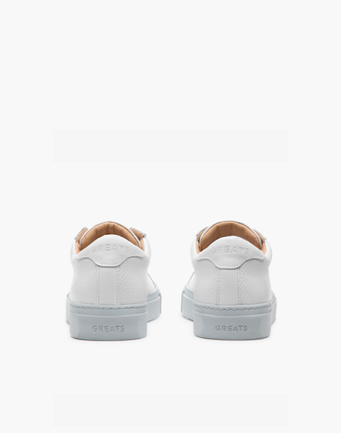 GREATS® Royale Reverse Leather Low-Top Sneakers in gray image 2