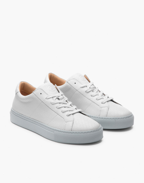 GREATS® Royale Reverse Leather Low-Top Sneakers in gray image 1