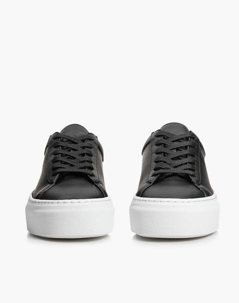 Unisex Koio Nero Platform Sneakers in Black Leather in black image 2