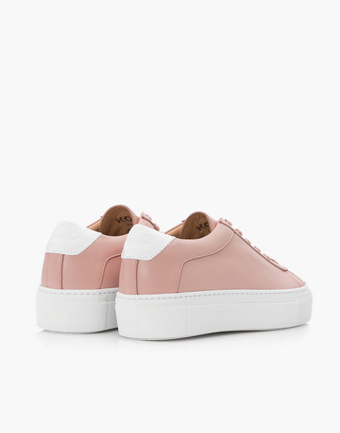 Unisex Koio Rosa Platform Sneakers in Pink Leather in pink image 3