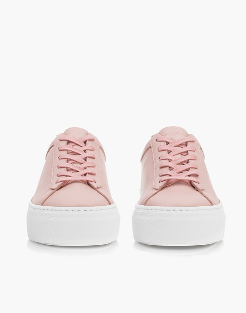 Unisex Koio Rosa Platform Sneakers in Pink Leather in pink image 4