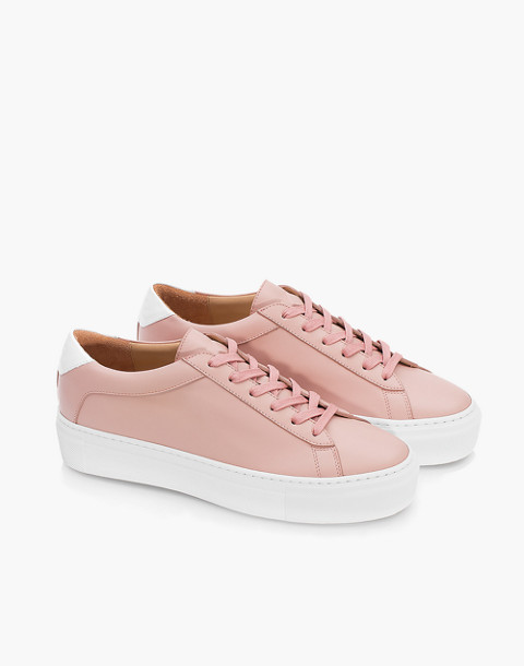 Unisex Koio Rosa Platform Sneakers in Pink Leather in pink image 2