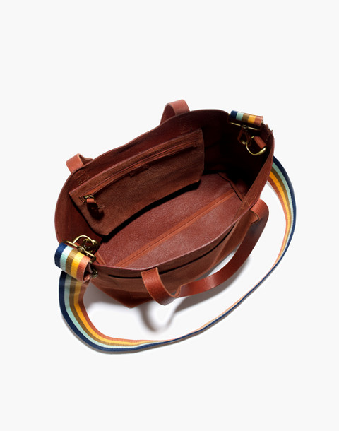 The Medium Transport Tote in Nubuck Leather: Rainbow Strap Edition in spiced cider image 3