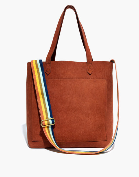 The Medium Transport Tote in Nubuck Leather: Rainbow Strap Edition in spiced cider image 1