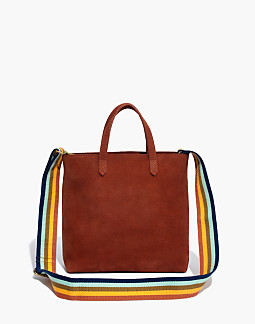 The Zip-Top Transport Crossbody in Nubuck Leather  Rainbow Strap Edition 2a07824fb9