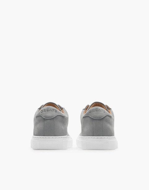GREATS® Royale Nubuck Low-Top Seakers in gray image 2